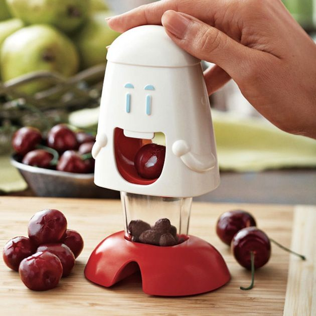 Cherry Pitter - one of 10 Fruit Tools To Keep Your Kitchen Updated (2) neeeed <3