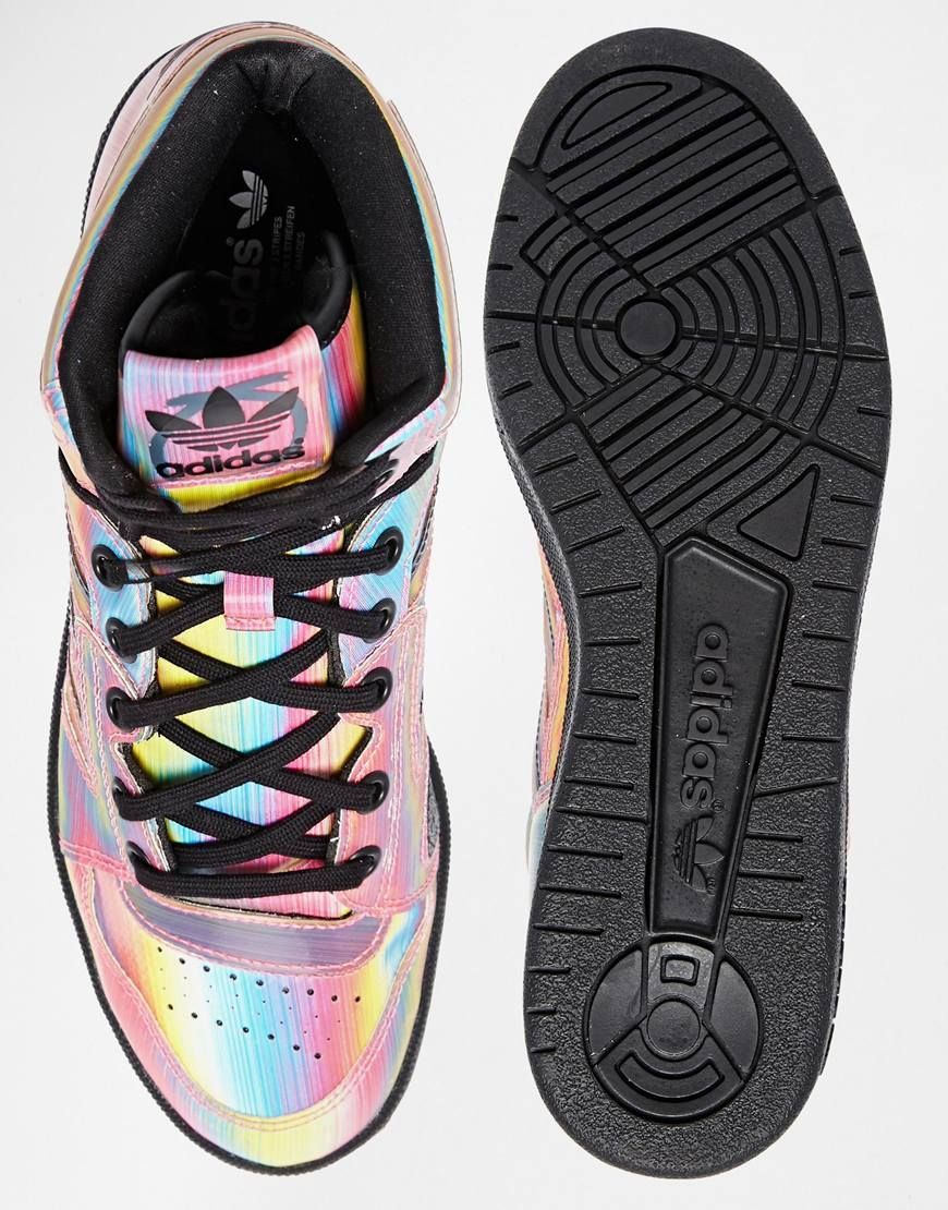 adidas Originals – Instinct – Bunte Hi-Top-Turnschuhe