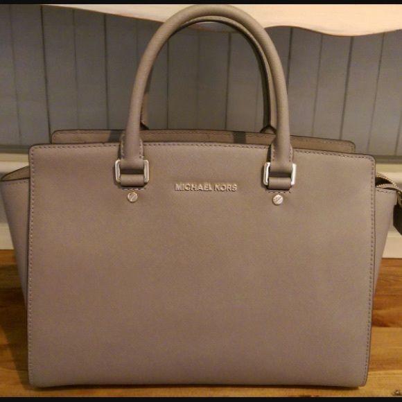 MICHAEL KORS Selma Large Luggage Brown Saffiano Leather