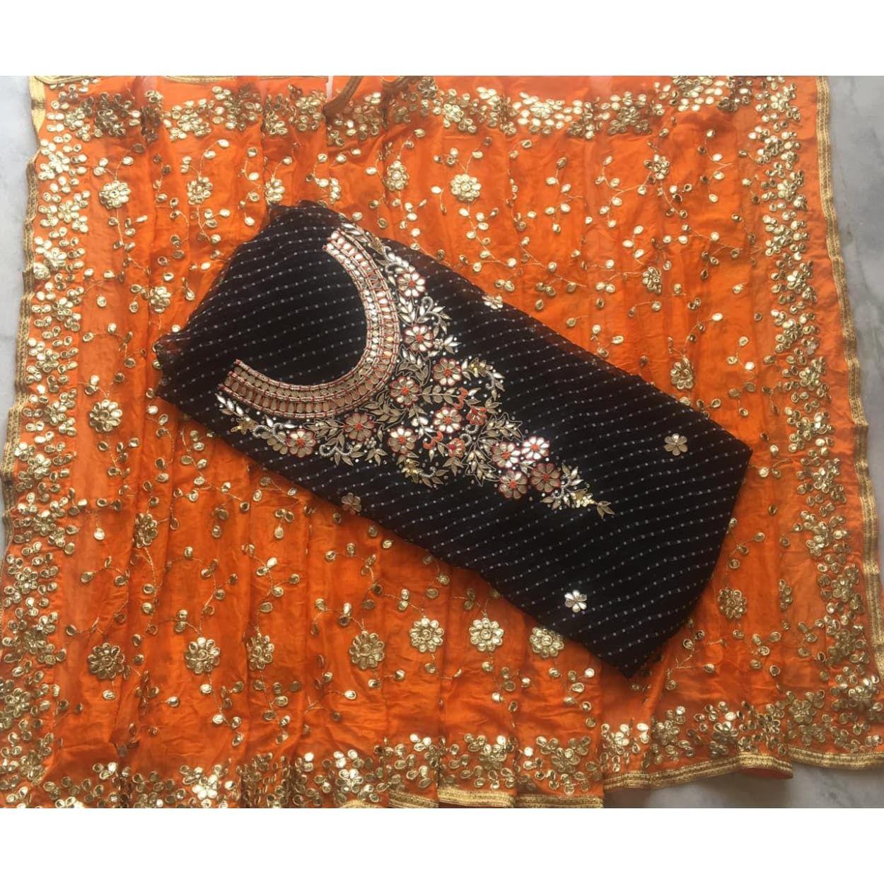 072a75b1cc Buy Black leheriya Gota Patti Work Suit|Salwar Kameez| Jhakhas #orange  #blacksuits