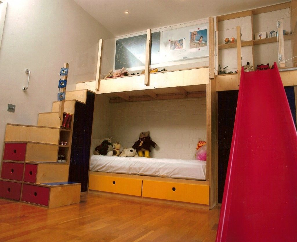 Bunkbeds With Play Area Slide Kids Rooms Bunk Beds