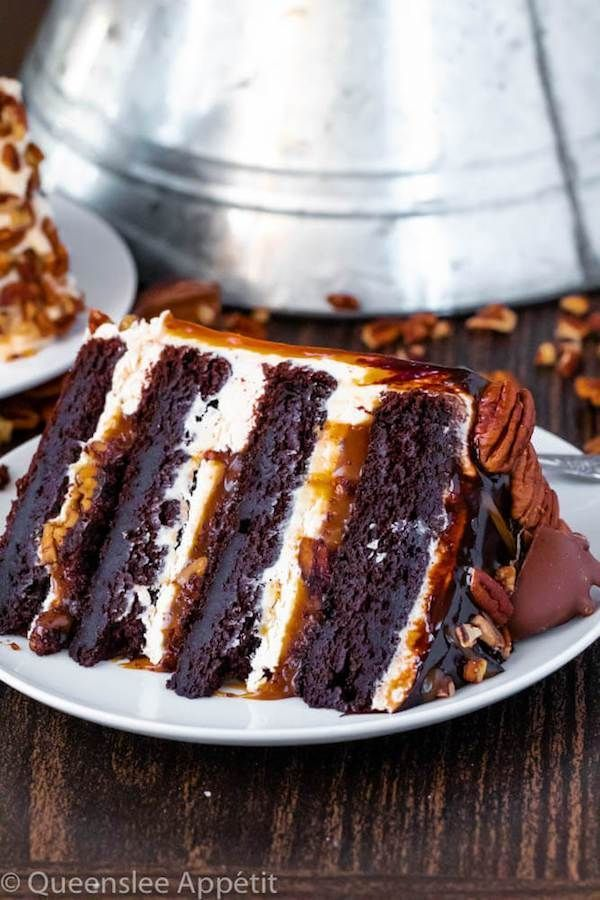 Turtle Chocolate Layer Cake ~ Recipe | Queenslee A