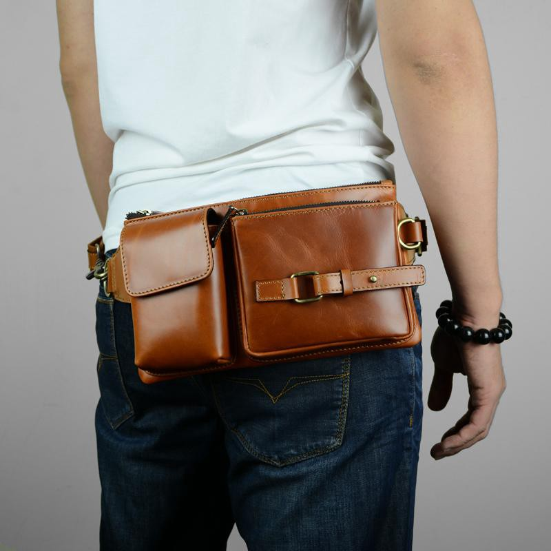Leather belt bag Leather fanny pack