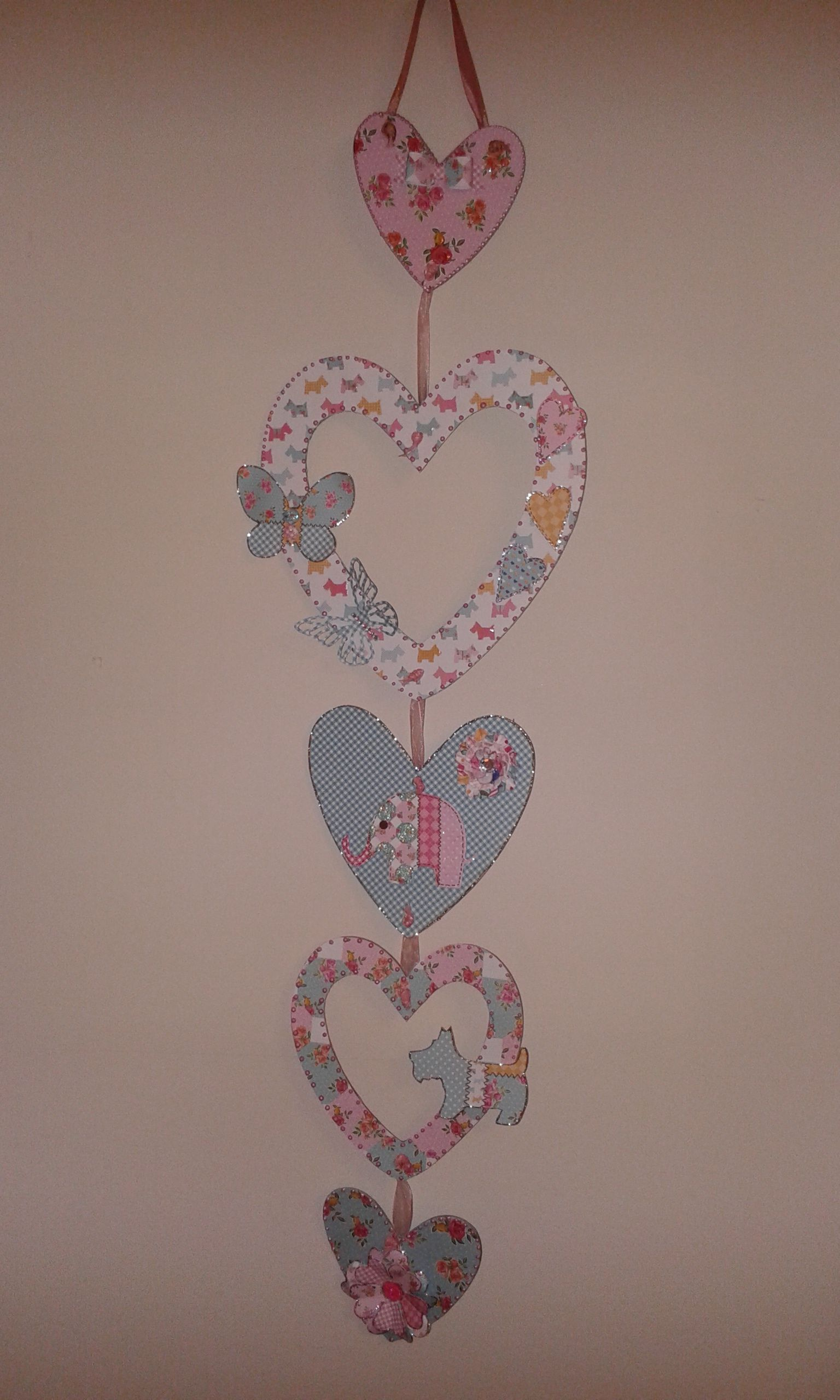 wall hanging using Craftwork Cards kitsch papers