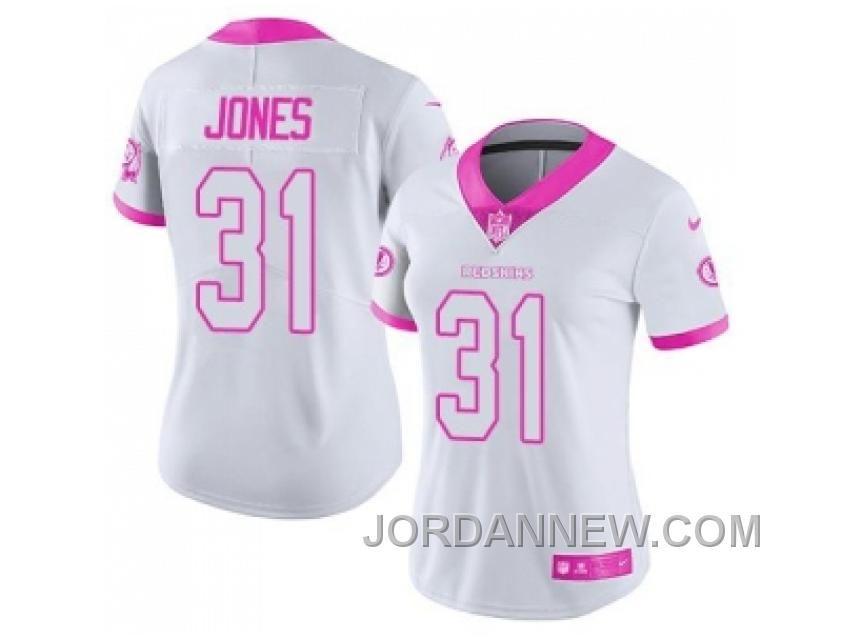 7d6d0fc88 Buy Womens Nike Washington Redskins Matt Jones White Pink Stitched NFL  Limited Rush Fashion Jersey Lastest ...