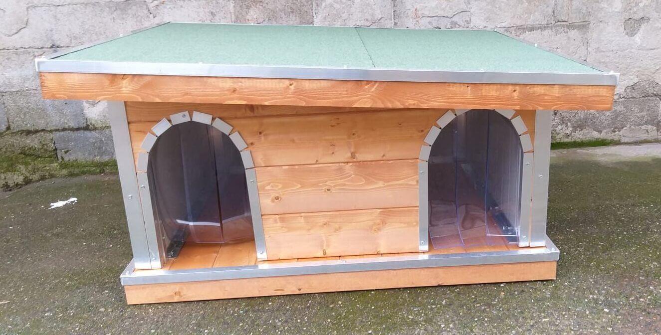 Cucce Piccole Per Cani cucce per cani in legno: su misura | doppie | con veranda