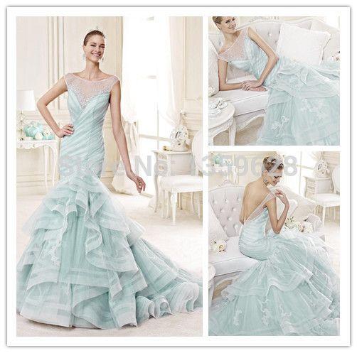 Vintage Mermaid Font B Wedding Ice Blue WeddingsBlue GownsWedding
