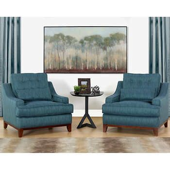 ravishing costco living room sets. love the teal color and sloped arm shape on these saint rhean chairs  Gorgeous Living Room Furniture that you wouldn t believe came from COSTCO via Saint Rhean Fabric Chairs 2 pack r e Pinterest