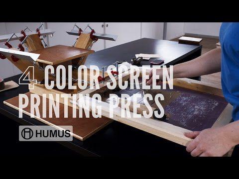 aca3a4c33 Make a 4 Color Screen Printing Press / T-shirts Printer - YouTube ...