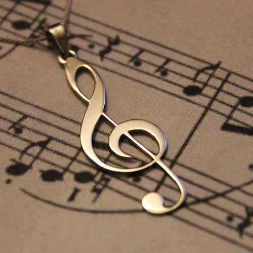 G clef Treble clef Necklace