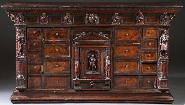 An Italian Figural Carved Wood Bambocci Cabinet Carved Furniture Wood Antiques
