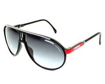 Mens sunglasses, Carrera Champion G WSG90 62. Sunglasses in Acetate colour  Black - Red and Gradient grey lenses category of UV protection  3. 8ad1b525b5