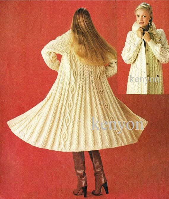 Instant Download - Knitting Coat Pattern - Women and Girls ...