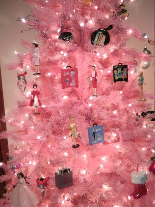 Barbie Christmas Tree Decorations.Pink Barbie Christmas Tree Darling I Want That