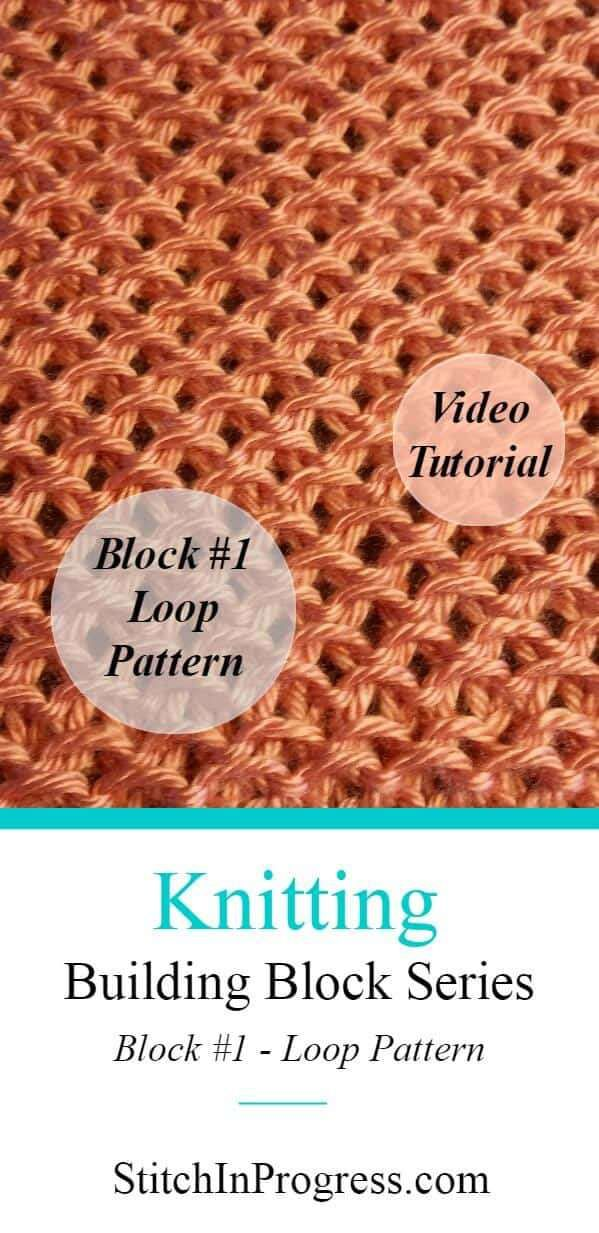 Knit Loop Pattern - Honeycomb Slip Stitch | Knitting help ...