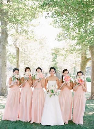ed95e8d75141 pink pastel wedding    Spring wedding colours.