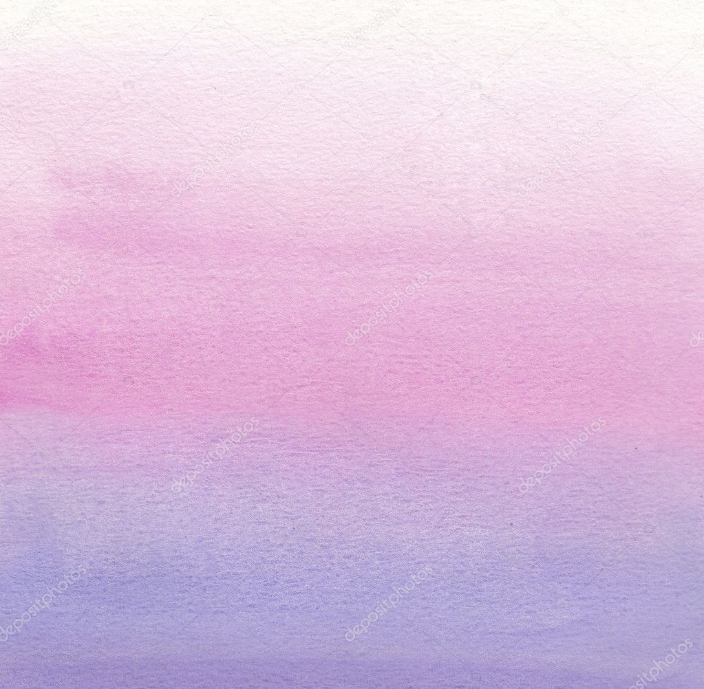 Watercolor Painting White Pink Purple Gradient Stock Photo