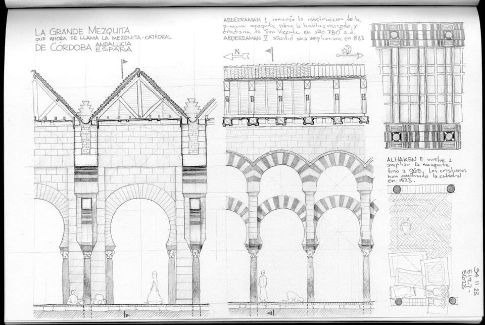 What Is A Mosque Detail: Great Mosue Gran Mezquita Cordoba Longitudinal And