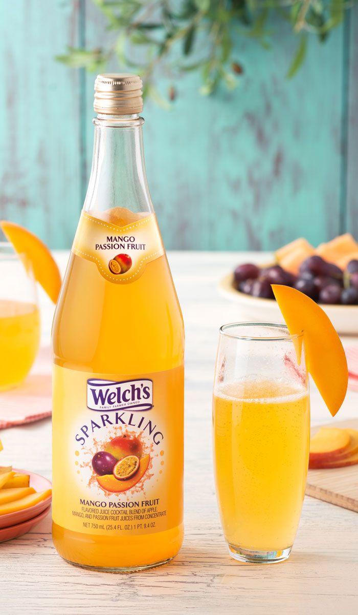 Welchs sparkling mango passion fruit juice