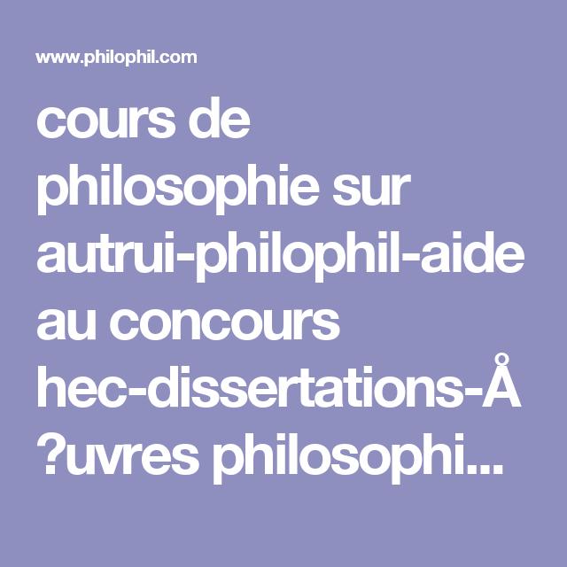 cours de philosophie sur autrui-philophil-aide au concours ...