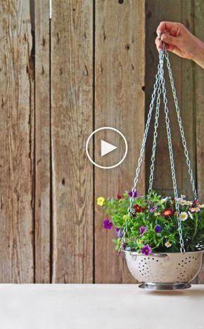 Video: Blumenampel selber machen