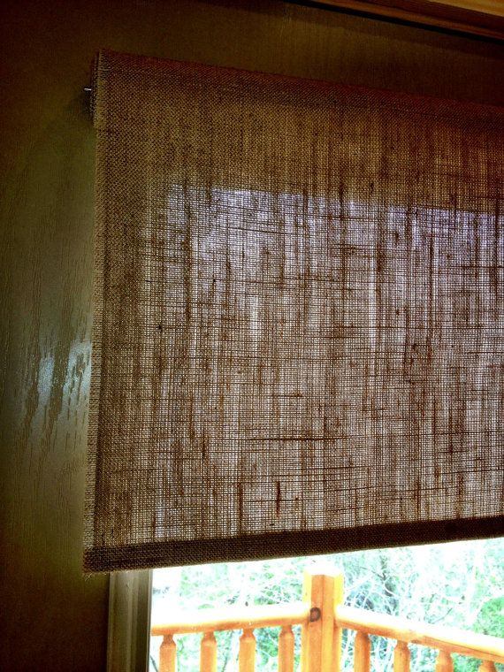 Burlap Roller Shade Tight Weave Custom Sizing By