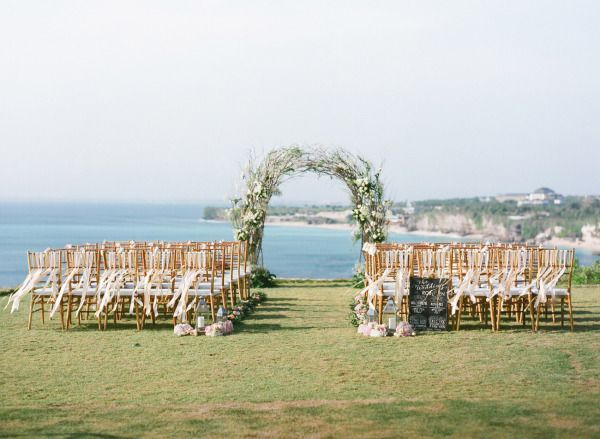 Romantic Cliff Top Wedding By The Sea In Bali Seaside Wedding