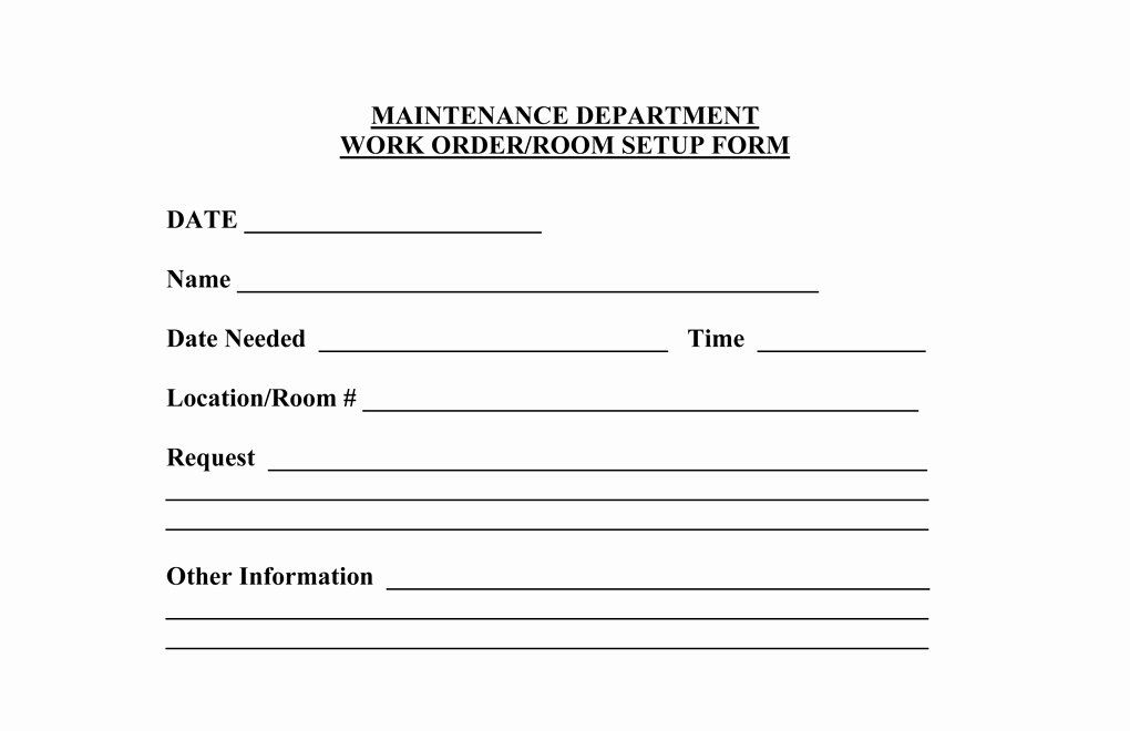 30 Work Request Form Template In 2020 Online Form Online
