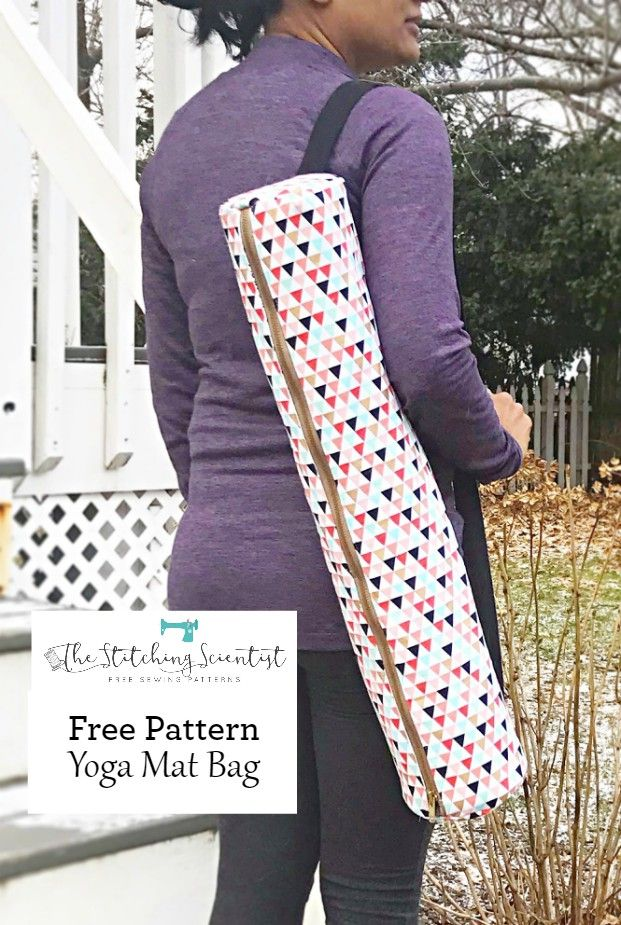 Free Yoga Mat Bag Sewing Pattern #bagsewingpatterns