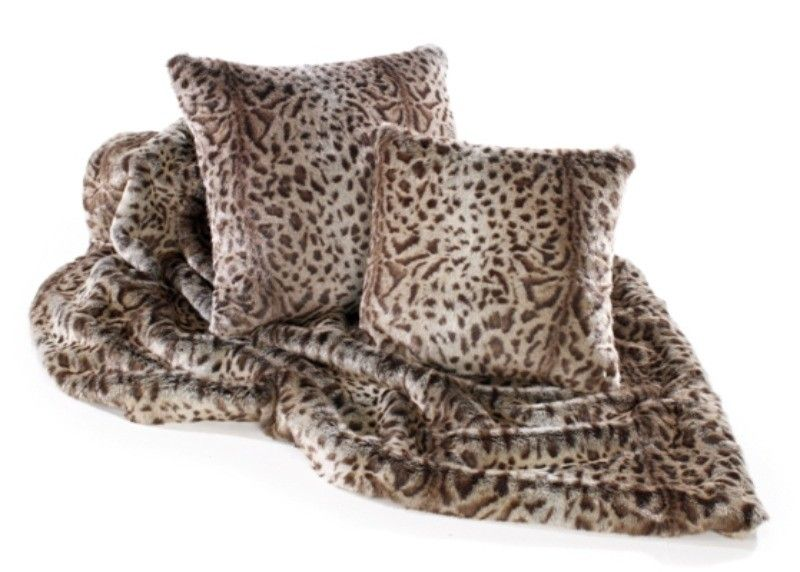 A Warm Cosy And Luxurious Faux Fur Throw In Stone Jaguar Design To Use On Sofas Beds Settees Couches Chairs