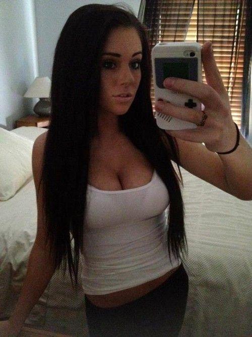 Slutty brunette teen selfie
