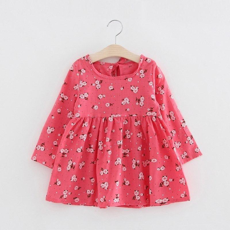 d93f54f8cac7b 2019 Spring Girls Dress Cotton Long Sleeve Children Dresses Fashion ...