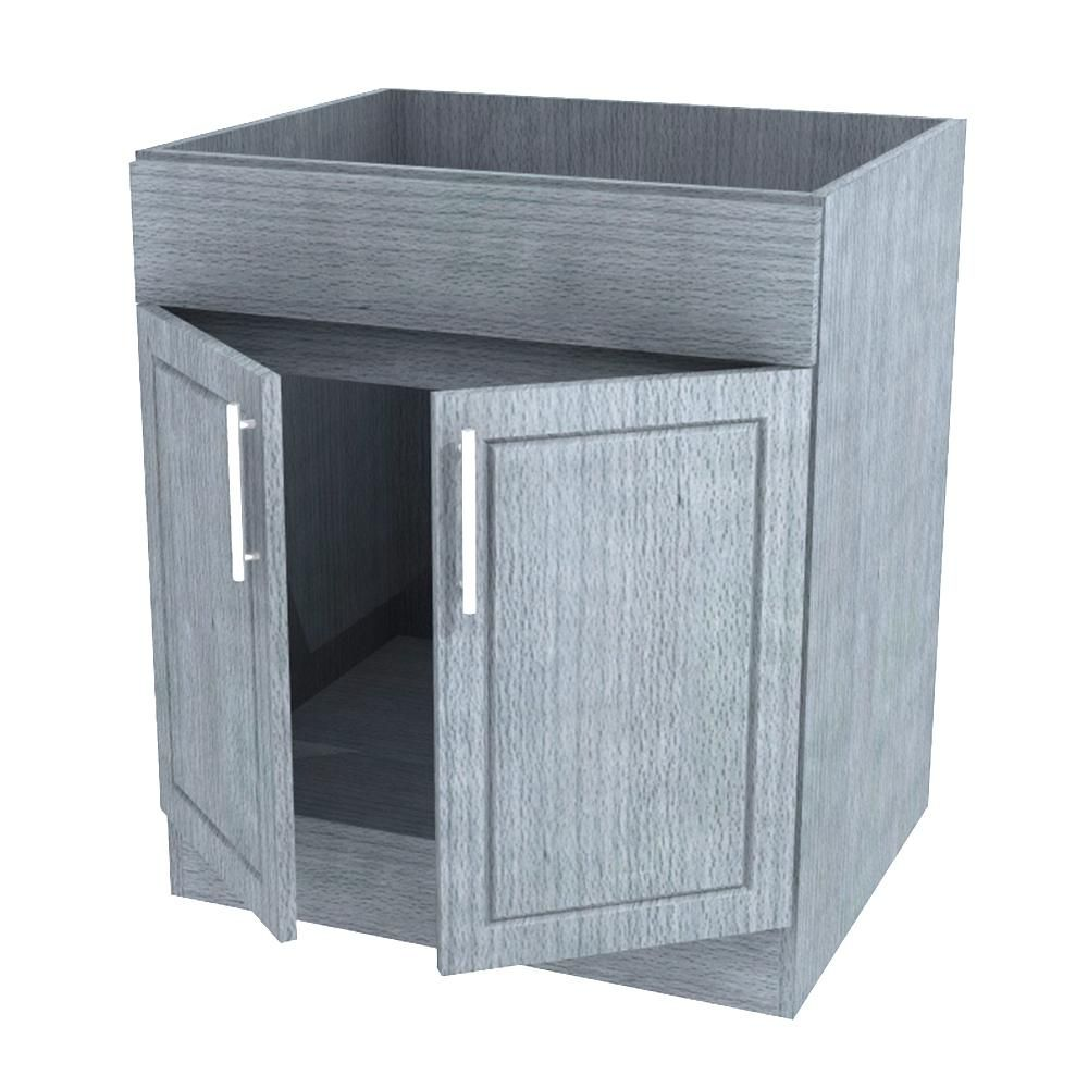 Assembled 24x34.5x24 in. Palm Beach Island Sink Outdoor Kitchen Base ...