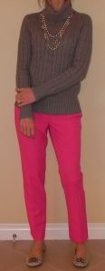 Love these cropped pink pants from Vince Camuto.