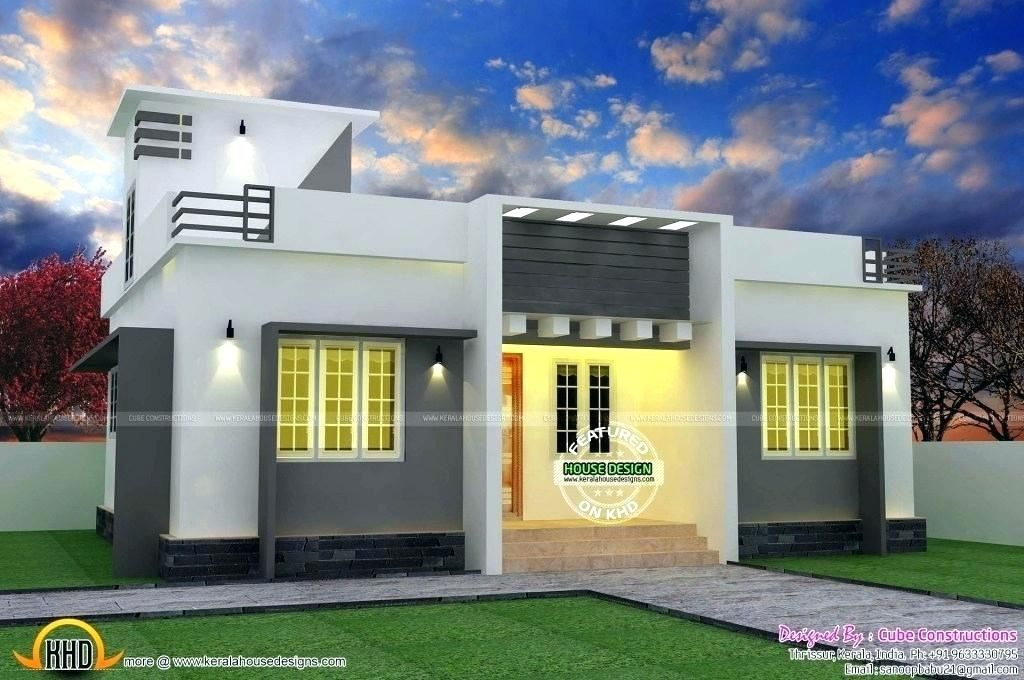 Simple Low Cost Front Elevation Single Floor Home Design In 2020 2 Storey House Design Small House Design Kerala House Design