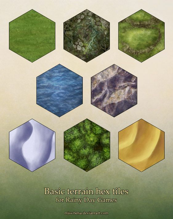 More hex tiles (terrain) by miss-hena | RPG Maps in 2019