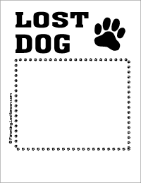 Lost dog printable sign flyer poster template, Parenting