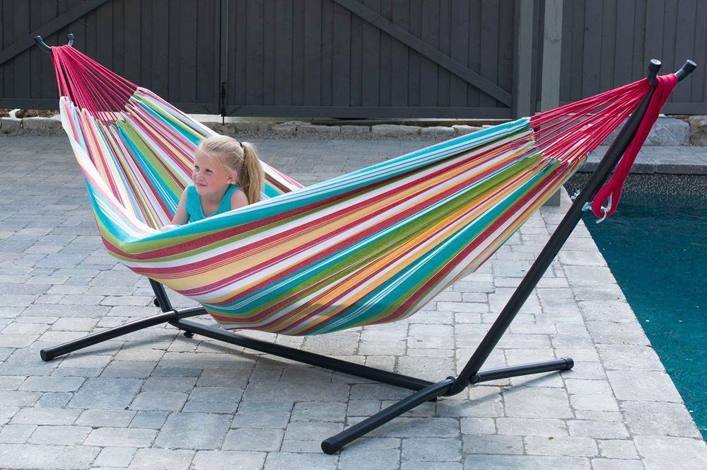 Garden hammock outdoor portable 2 person relaxing heavy