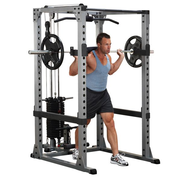 Body Solid Gpr378 Pro Power Rack No Equipment Workout Power