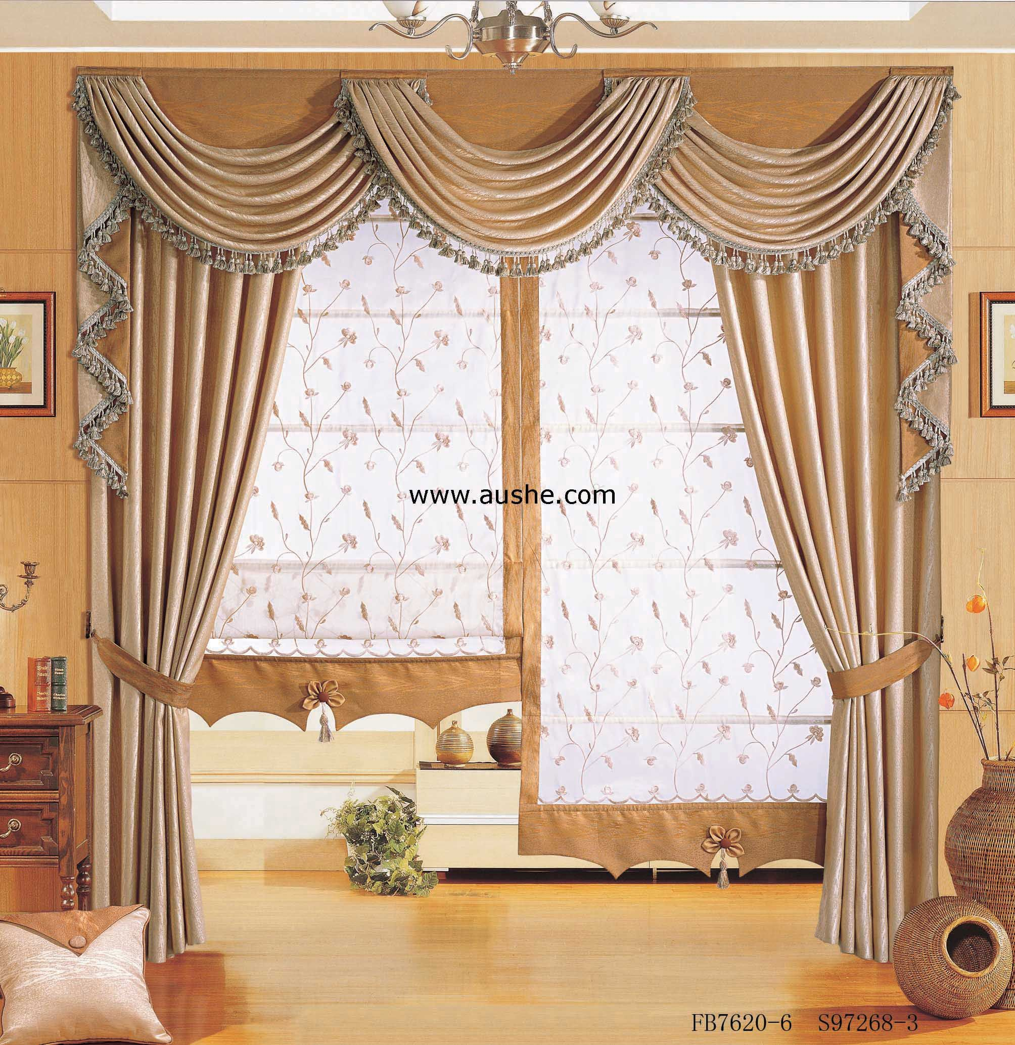 Swag and Cascade over stationary panels  Inspired Drapes  Drapes curtains Curtains White