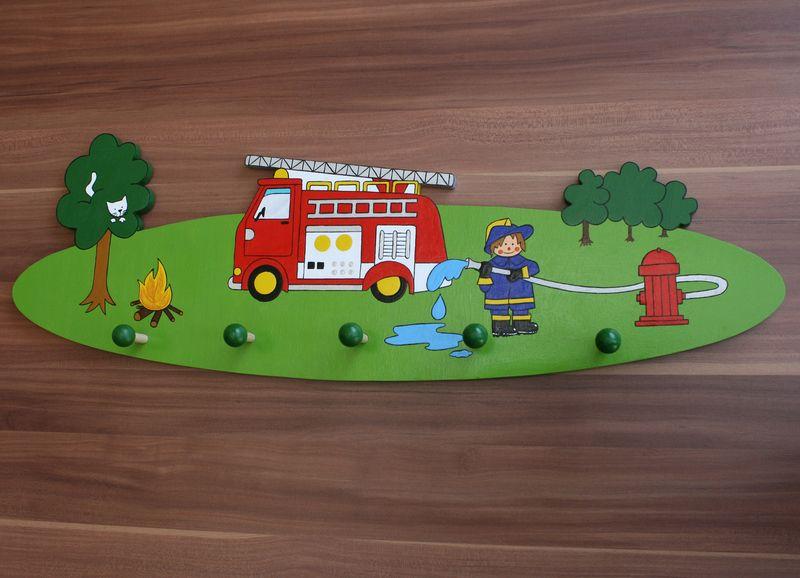 Garderoben - Feuerwehr-Garderobe *5 Haken* - ein Designerstück von ...