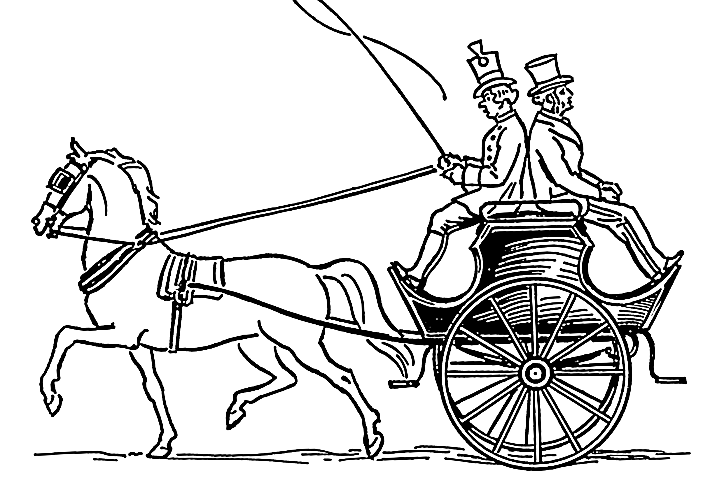 Regency Fashion Carriages Coaches And The Barouche Horse Coloring Pages Horse Coloring Coloring Pages