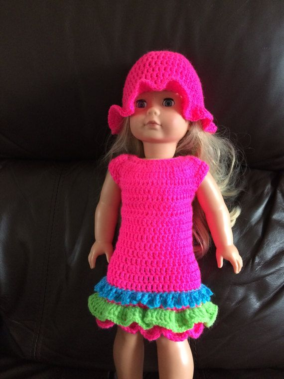 PDF Crochet pattern for 18 inch doll, American Girl Doll or Gotz ...