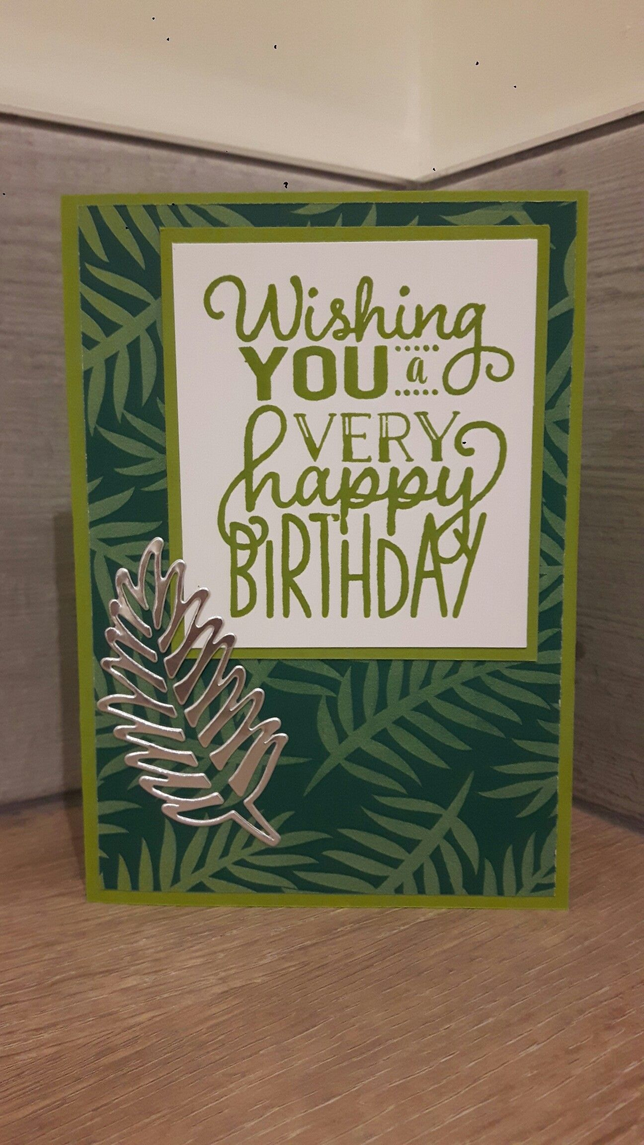 Stampin Up Masculine Birthday Card Tropical Escape DSP Thinlits Big On Birthdays Stamp Set