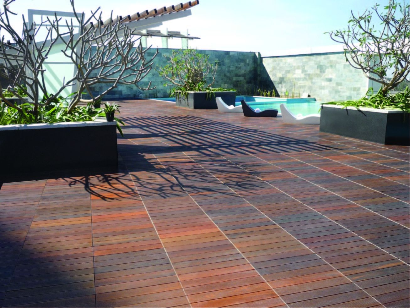 Beau Covered Deck Flooring Options