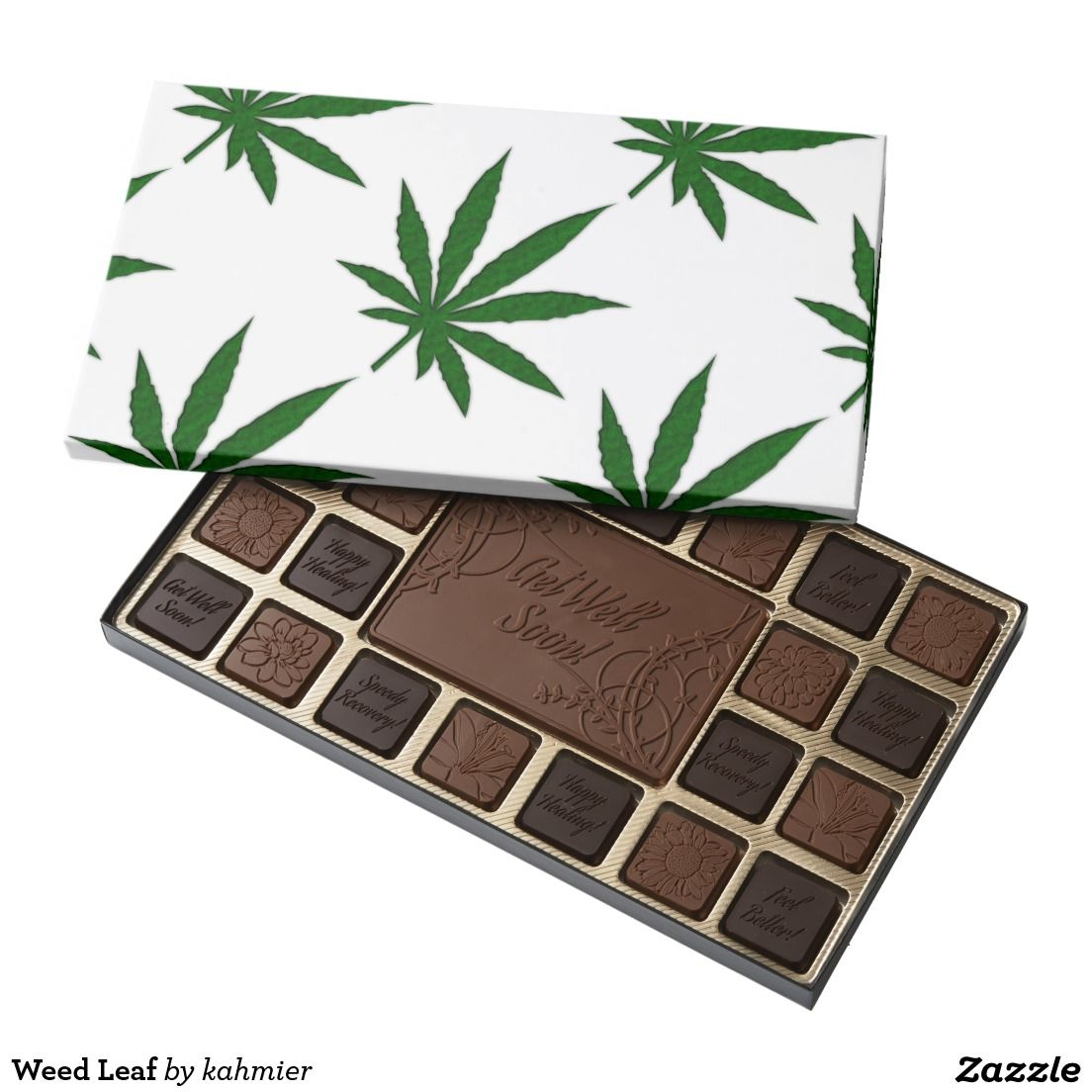 Sold - someone is going to get the munchies taken care of very well. Weed Leaf Assorted Chocolates