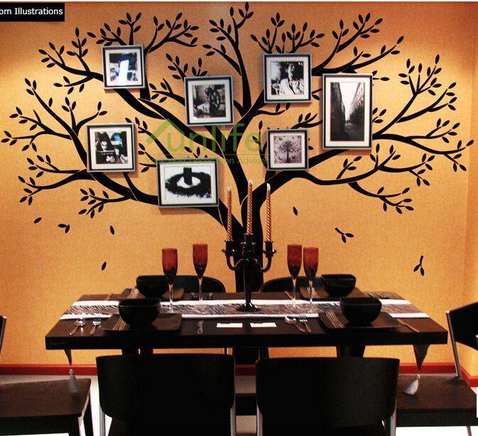 Family Tree Wall Decal - Photo frame tree Decal - Family Tree Wall ...