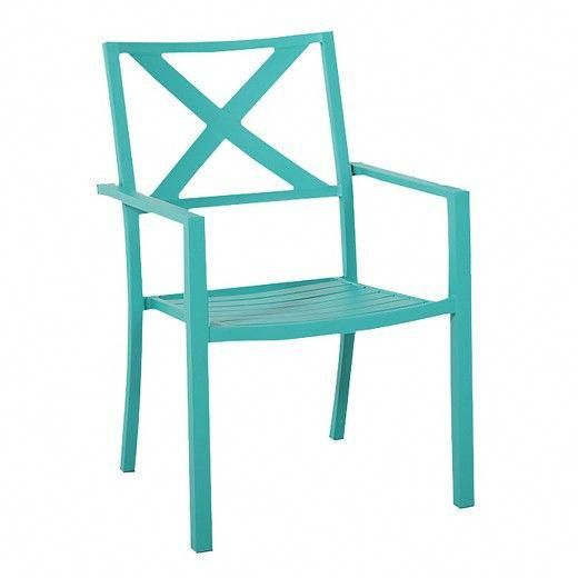 Metal Stacking Chairs Outdoor Ebay Party Chair Covers Sit Back In The Threshold Afton Turquoise And Relax As You Enjoy View Of Your Neatly Trimmed Lawn Blossoming Flower Beds