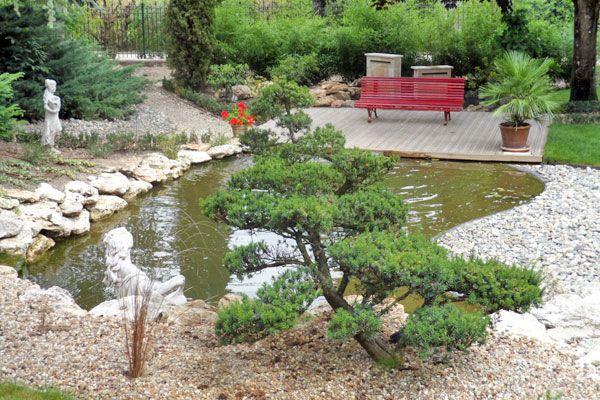 Un jardin japonais crin naturel d 39 un vieux manoir du paysagiste florent ratouit green paysages for Jardin paysager avec galets