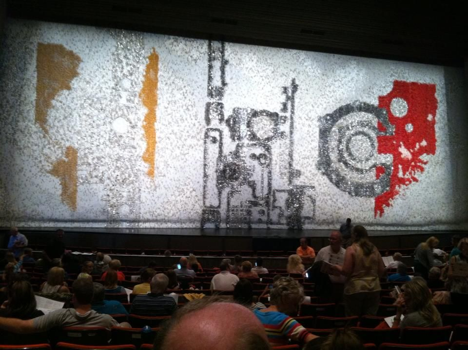Audience View of Silver Code - Stephens Auditorium stage curtain